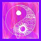 Yin Yang on Pink by Dana Roper