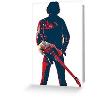 hope art the rock legend with guitar Greeting Card