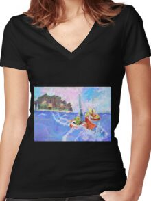 Wind Waker Colour Study Women's Fitted V-Neck T-Shirt