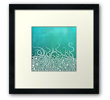 Turquoise Tentacles Framed Print