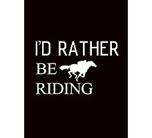 Riding horse and animal Photographic Print