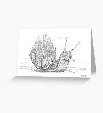 Snail City Greeting Card