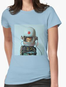 Cosmonaut Vector Womens Fitted T-Shirt