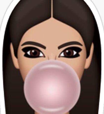 Bubble Gum Kimoji Sticker