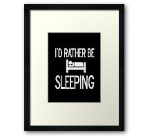 Sleeping and resting  Framed Print