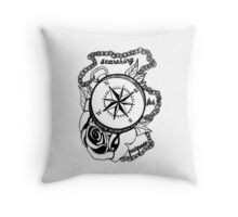 Searching For Purpose Compass Rose Design Throw Pillow