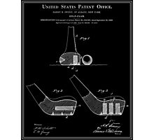 Golf Club Patent - Black Photographic Print