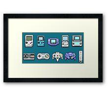 Nintendo Controller Family  Framed Print