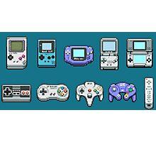 Nintendo Controller Family  Photographic Print