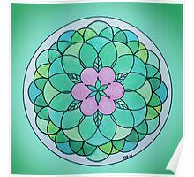 Heart Chakra Mandala Poster