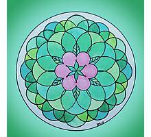 Heart Chakra Mandala Photographic Print