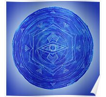 Third Eye Chakra Mandala Poster