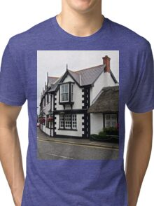 16th century cottages, Crawfordsburn, Northern Island Tri-blend T-Shirt