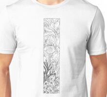 Botanical Alphabet Letter I Unisex T-Shirt