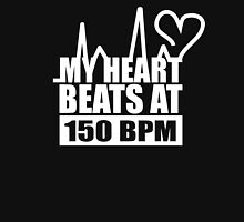 My heart beats at 150 BPM Unisex T-Shirt