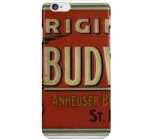 VINTAGE BUDWEISER BEER RETRO iPhone Case/Skin