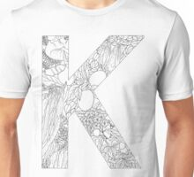 Botanical Alphabet Letter K Unisex T-Shirt