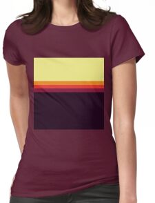 Sunset Palette Stripe Pattern Womens Fitted T-Shirt