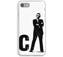 man the legend black silhouette iPhone Case/Skin