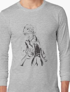 Mr Clever - Black and White Long Sleeve T-Shirt