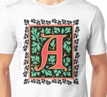 Medieval Letter A Monogram Unisex T-Shirt