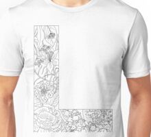 Botanical Alphabet Letter L Unisex T-Shirt
