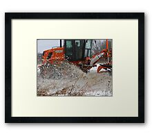 Workin' The Plow Framed Print