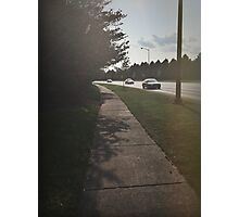Sidewalk and Street  Photographic Print
