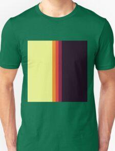 Sunset Palette Stripe Pattern- vertical Unisex T-Shirt
