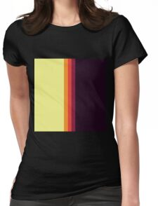 Sunset Palette Stripe Pattern- vertical Womens Fitted T-Shirt
