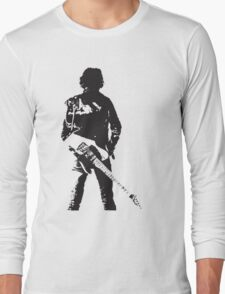 the rock legend with guitar on back Long Sleeve T-Shirt