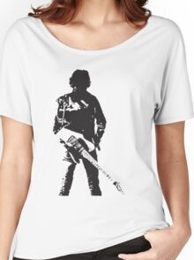 the rock legend with guitar on back Women's Relaxed Fit T-Shirt