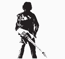 the rock legend with guitar on back Unisex T-Shirt