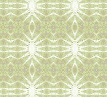 Green, Purple and White Abstract Design Pattern by Mercury McCutcheon