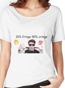 danisnotonfire 10% fringe 90% cringe Women's Relaxed Fit T-Shirt