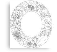 Botanical Alphabet Letter O Canvas Print