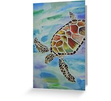 The Technicolor Turtle Shell Greeting Card
