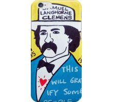 Mark Twain Folk Art iPhone Case/Skin
