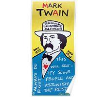 Mark Twain Folk Art Poster