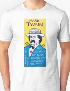 Mark Twain Folk Art Unisex T-Shirt