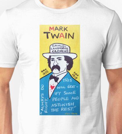 Mark Twain Folk Art Unisex T-Shirt