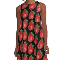 STRAWBERRIES FOREVER A-Line Dress