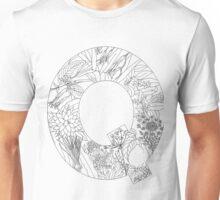 Botanical Alphabet Letter Q Unisex T-Shirt