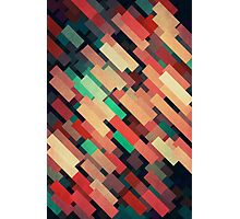 Abstraction #004 Red Green Yellow Geometric Blocks Photographic Print