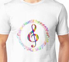 Colorful Treble Clef Unisex T-Shirt