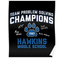 1983 Hawkins Middle School Team Problem Solving Champions Poster