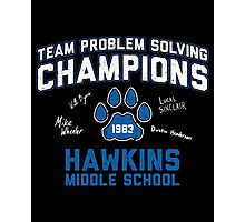 1983 Hawkins Middle School Team Problem Solving Champions Photographic Print