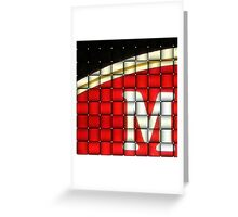 M Is For..... Greeting Card