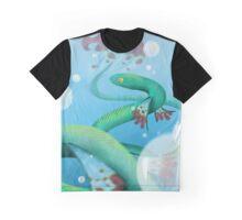 Water Snake Dragon Graphic T-Shirt