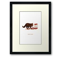 Cattism 25: Conserve Water Framed Print